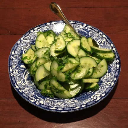 Cucumber Salad with Lemon Juice and Cilantro