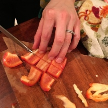 Grandma Lilly's pepper slicing strategy.