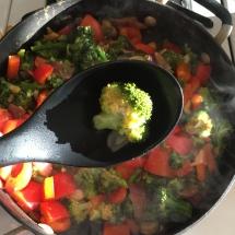 Checking broccoli tenderness
