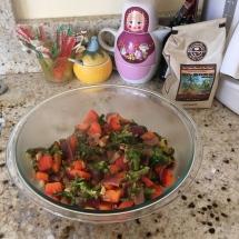 Sautéed veggies in cashew sauce