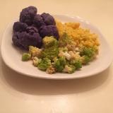 Cauliflower collection, freshly prepared