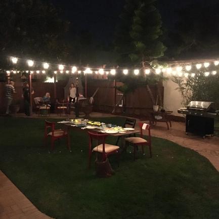 Robin and Maria's beautiful backyard