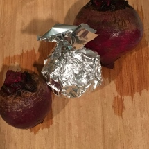 Whole beets roast best when individually wrapped