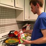 Alex Taylor - another Taylor in your kitchen! - adds frozen peas to the mix