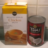 Our selections for broth and coconut milk.