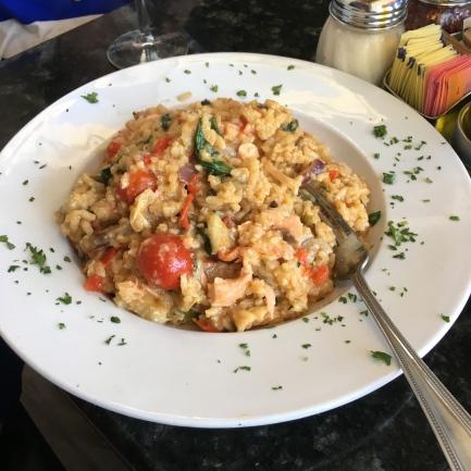 The original salmon risotto at Venezia in St. Armand's Circle
