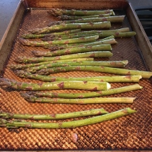 Fresh Michigan asparagus from the Green City Market