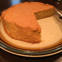 Rick baked a Passover-friendly almond cake!