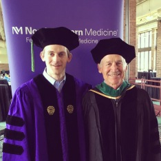 Drs. Alex and Peter Taylor at graduation.