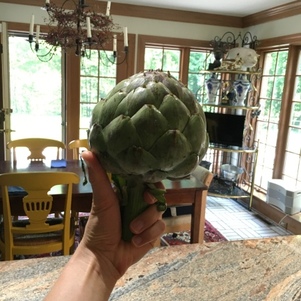 Behold, the most perfect edible artichoke from Dover's Safeway!