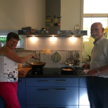 Cathinka and Uncle Bob were happy to have their cooking documented.