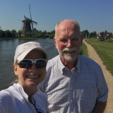A selfie with Uncle Bob during our dike bike ride by Delft.