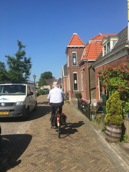 Uncle Bob on his bike in Delft.