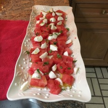 Bright, refreshing watermelon salad.