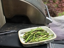 The finished product - perfectly tender and crisp asparagus.