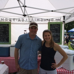 Visiting Cal at the Bohemia Lea farm stand in Lewes.