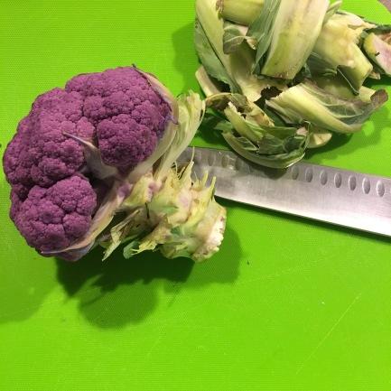 Beautiful purple cauliflower.