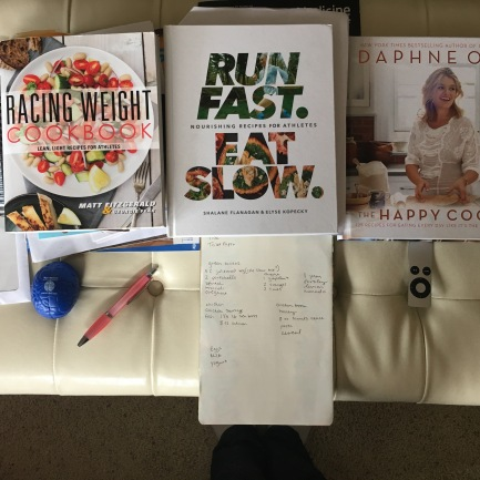 "Three cookbooks for inspiration this week (I ordered a hard copy of ""Good and Cheap"" today!)"