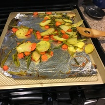 Crispy, tasty roasted veggies.