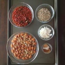 Mise en place - everything in its place! Granola ingredients, measured and ready to go.