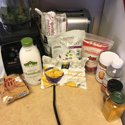 All the ingredients you need for a recovery smoothie!