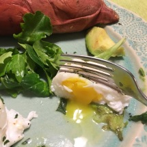 Poached eggs and avocado make a nice pair.