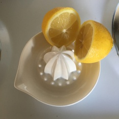 I love the details on this porcelain juicer and its simple design for catching lemon seeds.