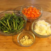 Mise en place makes for seamless transitions while cooking.