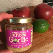 A little jar of minced garlic can make for even quicker prep time!